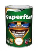 MALEXIM Emalia SUPERFTAL alkidowa do malowania drewna i metalu szara 0,8L