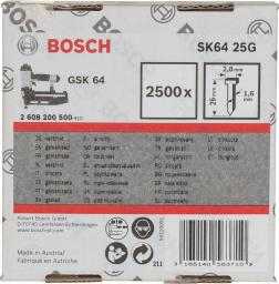 Bosch Gwoździe 25mm do GSK 64 2500szt. (2.608.200.500)