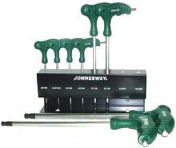 JONNESWAY Zestaw kluczy imbusowych hex typ T 2-10mm z kulką 8szt. (H10MB08S)
