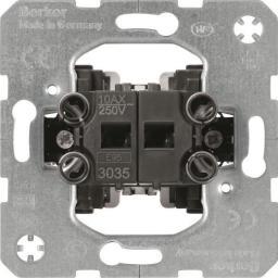 Hager Polo Łącznik 2-klawiszowy seryjny one.platform świecznikowy mechanizm samozaciski (533035)