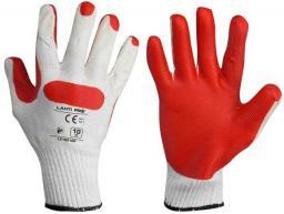 Lahti Pro Rękawice lateksowe czerwono-białe rozmiar 10 (L210910K)