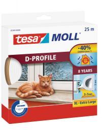 Tesa Uszczelka gumowa 9mm profil D biała 25m (0538901)