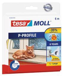Tesa Uszczelka gumowa 9mm profil P biała 6m (0539002)
