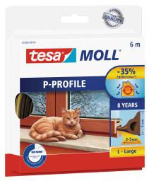 Tesa Uszczelka gumowa 9mm profil P brązowa 6m (0539003)