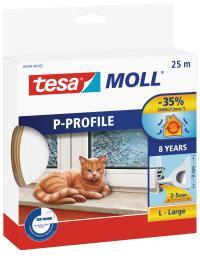 Tesa Uszczelka gumowa 9mm profil P biała 25m (0539102)