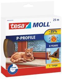 Tesa Uszczelka gumowa 9mm profil P brązowa 25m (0539103)