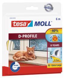 Tesa Uszczelka gumowa 9mm profil D biała 6m (0539302)
