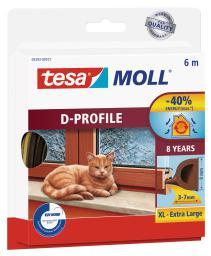 Tesa Uszczelka gumowa 9mm profil D brązowa 6m (0539303)