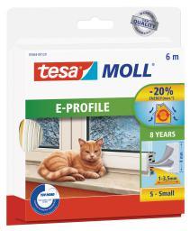 Tesa Uszczelka gumowa 9mm profil E biała 6m (0546322)