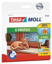 Tesa Uszczelka gumowa 9mm profil E brąz 6m (0546323)