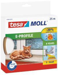 Tesa Uszczelka gumowa 9mm profil E biała 25m (0546402)