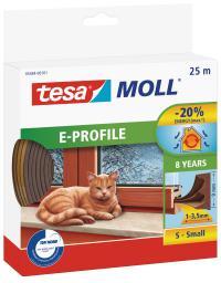 Tesa Uszczelka gumowa 9mm profil E brąz 25m (0546403)