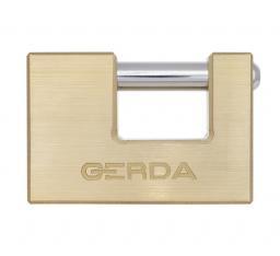 Gerda Kłódka trzpieniowa mosiężna 90mm + 3 klucze