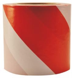 PAINTO Taśma ostrzegawcza 80mm x 100m biało-czerwona (10080)