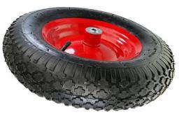 AWTools Koło do taczki pneumatyczne 400 felga metal łożysko oś (AW00001)
