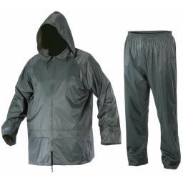 Lahti Pro Komplet przeciwdeszczowy kurtka + spodnie zieleń XXXL (L4140206)