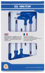King Tony Zestaw kluczy imbusowych hex typ T 3-8mm z kulką 6szt. (22106MR)