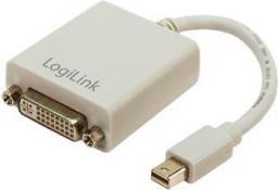 Adapter AV LogiLink DisplayPort Mini - DVI-I 0.15m szary (CV0037)