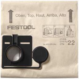 Worek do odkurzacza Festool filtrujący FIS-CT 22 5 sztuk (452970)