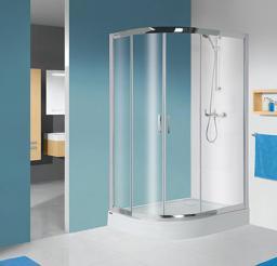 Sanplast Kabina prysznicowa kpl-P-KP4/TX5b narożna asymetryczna półokrągła prawa W0 80 x 100cm (602-271-0300-38-401)