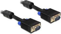 Kabel Delock D-Sub (VGA) - D-Sub (VGA), 15m, Czarny (82561)