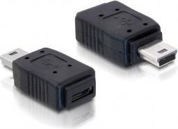 Adapter USB Delock Mini USB-micro USB Czarny (65155)