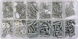 Yato Zestaw śrub, nakrętek, podkładek i wkrętów 347szt. (YT-06771)