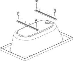 Sanplast Nogi /stelaż do wanny STW-001  (194-STW-001)