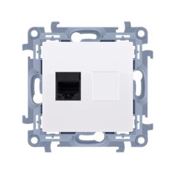 Kontakt-Simon Gniazdo komputerowe RJ45 kategoria 5e biały (C51.01/11)