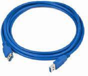 Kabel USB Gembird AM-AF kabel, przedłużacz USB 3.0 3m (CCP-USB3-AMAF-10)