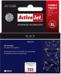 Activejet tusz AH-703BR / CD887AE nr 703Bk (black)