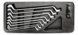 NEO Zestaw kluczy oczkowych odgiętych 6-22mm 8szt. (84-233)