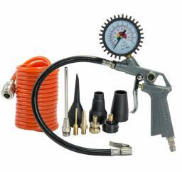Pansam Zestaw akcesoriów pneumatycznych wąż 3m + końcówki do pompowania 10szt. (A532008)