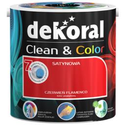 Dekoral Farba lateksowa satynowa Clean&Color złocista morela 2,5L
