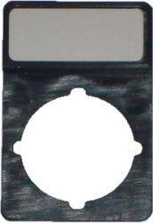 Spamel Tabliczka opisowa czarna prostokątna (ST22-1901P26)