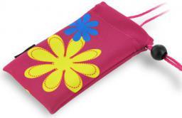 4World Etui GSM POCKET FLOWER różowy (06184)