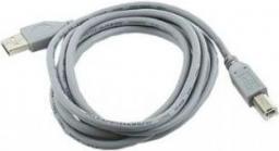 Kabel USB Gembird AM-BM kabel USB 2.0 1.8M szary Niklowane końce (CCP-USB2-AMBM-6G)