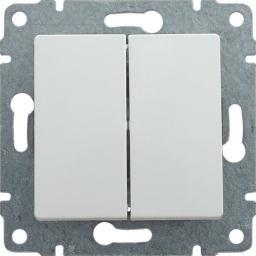 KOS Łącznik podwójny Vena świecznikowy biały (510415)