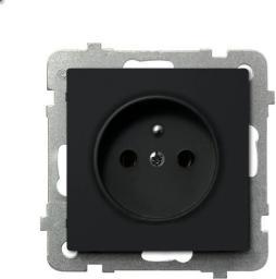 Ospel Gniazdo Sonata pojedyncze z uziemieniem czarny metalik (GP-1RZ/m/33)