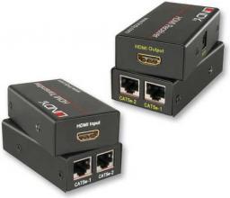 System przekazu sygnału AV LINDY Przedłużacz HDMI extender adapter na RJ-45 CAT5e/6 do 30m (38023)