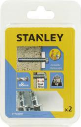 Stanley Śruba metalowa do betonu z końcówką niebieską 8 x 75mm 2szt. (STF46007-XJ)