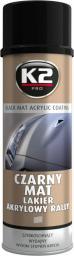 K2 Lakier akrylowy czarny mat 500mL (L340)