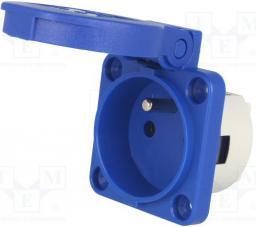 PCE Gniazdo tablicowe 16A 230V niebieski (1040-0B)