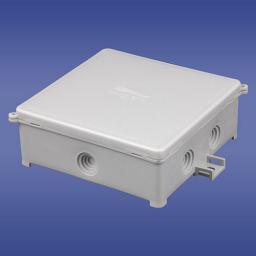 ELEKTRO-PLAST Puszka natynkowa hermetyczna pusta 100 x 100mm PIN 100/S szary (31.101)