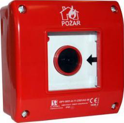 Spamel Przycisk ppoż. natynkowy 2Z 1R czerwony (OP1-W01-B21)