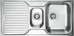 Teka Zlewozmywak 1,5-komory z ociekaczem Princess 1½C 1E CN stal szlachetna len (30000183)