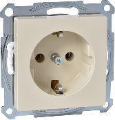 Schneider Electric Gniazdo pojedyncze Merten System M Schuko 16A IP20 kremowe (MTN2401-0344)