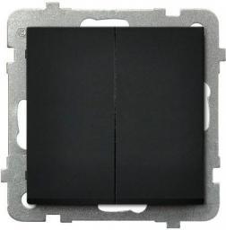 Ospel Łącznik podwójny Sonata zwierny czarny metalik (ŁP-17R/m/33)
