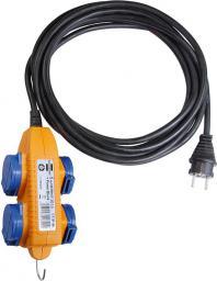 Brennenstuhl Przedłużacz Powerblock IP44 do zastosowań budowlanych 4 x 230V / 16A 5m (1151734)