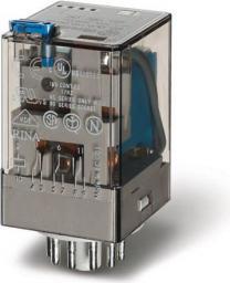 Finder Przekaźnik przemysłowy 3P 10A 110V AC przycisk testujący wskaźnik zadziałania (60.13.8.110.0040)